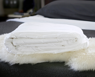 Double bed size long-strand mulberry silk-filled duvets from Silk Bedding Direct