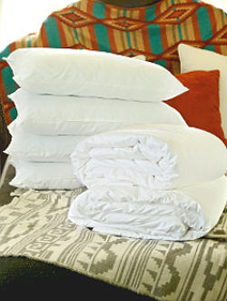 Hypo-allergenic silk-filled bedding health benefits