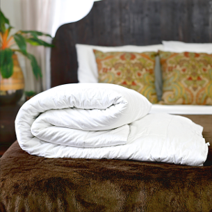 Hypo-allergenic silk-filled duvets for double bed from Silk Bedding Direct