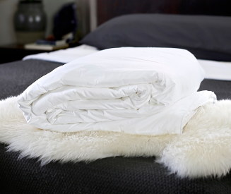 Continental queen size long-strand mulberry silk-filled duvets from Silk Bedding Direct