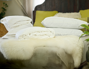 King size summer mulberry silk-filled duvets, silk-filled mattress topper and 4 silk-filled pillows