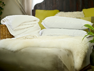 King size silk-filled mattress topper and 2 silk-filled pillows