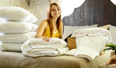 Mulberry silk filled duvets, pillows and mattress pads from Silk Bedding Direct
