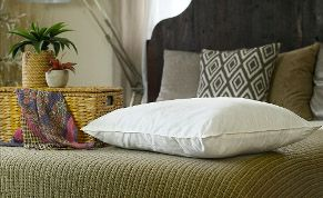Mulberry silk-filled pillow from Silk Bedding Direct
