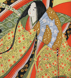 Silk brocade depicting a Chinese woman
