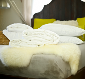 Super king size all-seasons mulberry silk-filled duvets, silk-filled mattress topper and 2 silk-filled pillows
