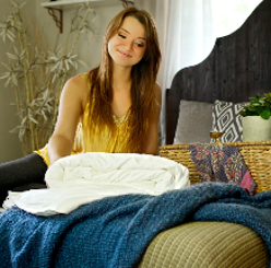 Super king size hand sewn long-fibre mulberry silk-filled duvets from Silk Bedding Direct