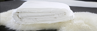 100% natural mulberry silk-filled duvets from Silk Bedding Direct