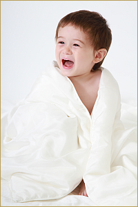 Silk-filled duvets are great for children, hypoallergenic and 100% natural