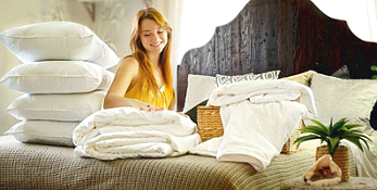 Mulberry silk duvets, mattress pads and pillows